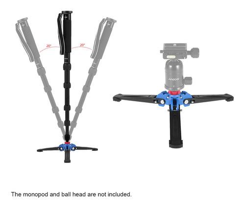 trípode de cámara réflex digital de tres patas, monopié, mon
