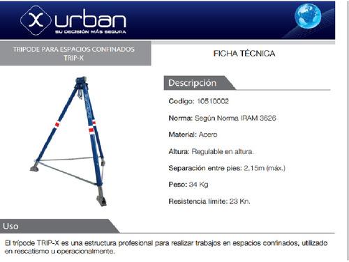 tripode de rescate para espacios confinados x-urban altura