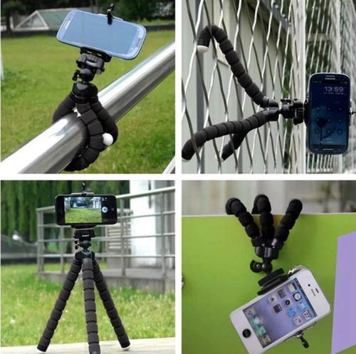 tripode flexible camara celulares iphone 6 samsung huawei