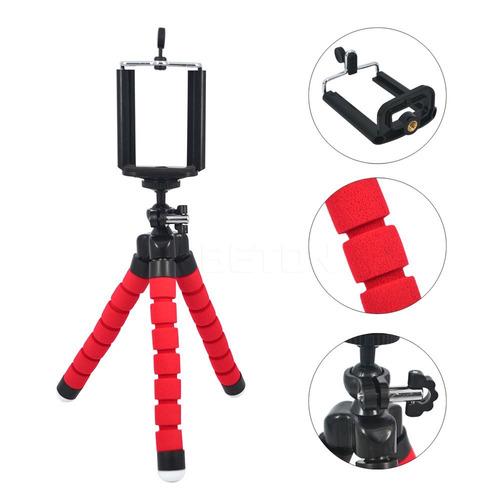 tripode flexible mini celular camara con base soporte gopro