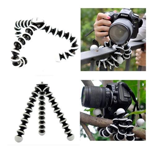 trípode flexible octopus para cámaras y celulares + soporte