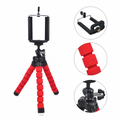 tripode flexible para cámara celular y tablet + base selfies