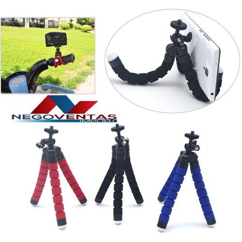 tripode flexible spider universal para celulares camaras etc