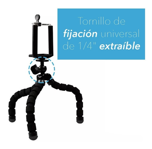 tripode flexible tipo araña para dispositivos universales