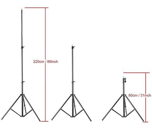 tripode fotografia luces reflectores flash 220 cm