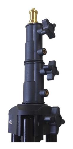 trípode godox 304 aluminio altura máx hasta 2 mts