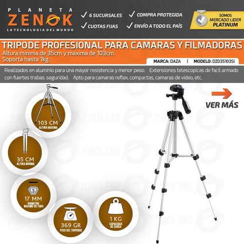 tripode p/ camara fotos filmadora daza 1.03 m 1kg con bolso