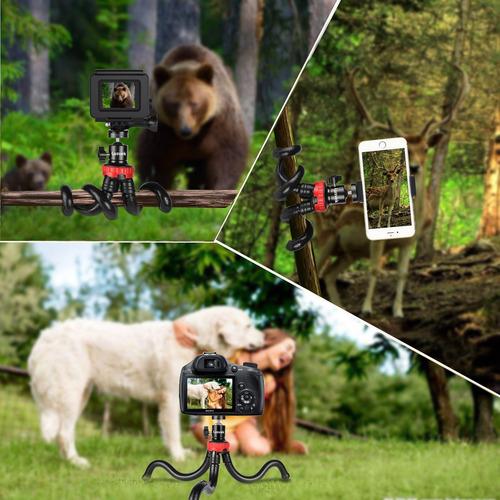 trípode para teléfono, lusvek trípode para cámara flexible y