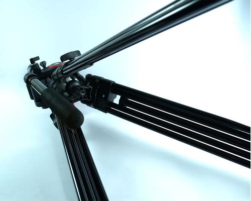 tripode profesional aluminio anodizado cabezal de video