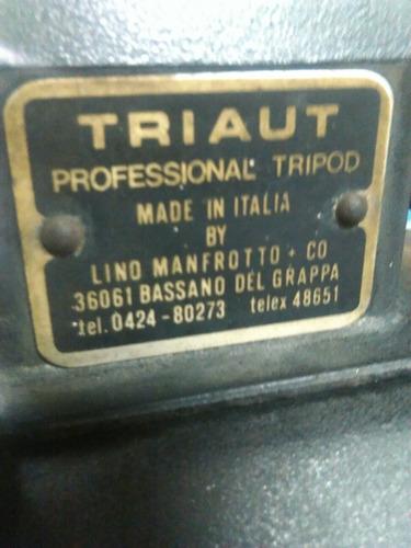 trípode profesional manfrotto + cabezal de giro - usado