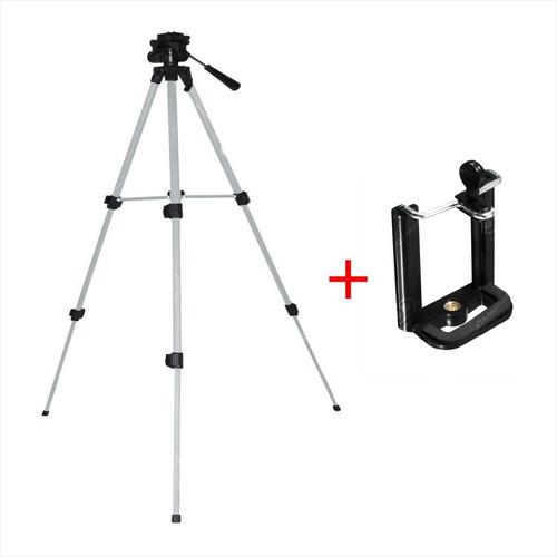 trípode profesional para cámara + estuche, star tec 1.30 mts
