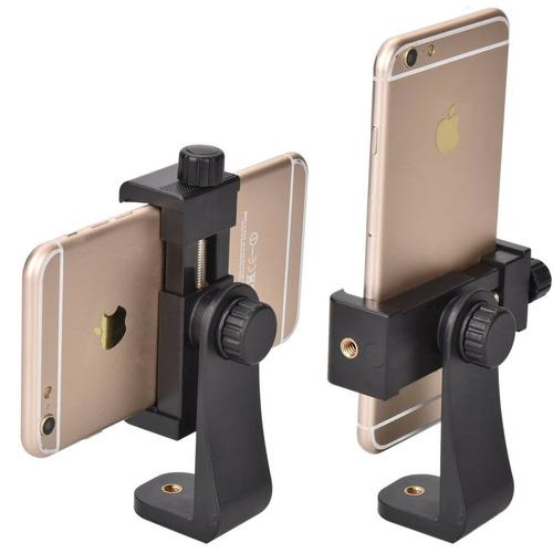 trípode, smart phone adaptador de montaje en  + envio gratis