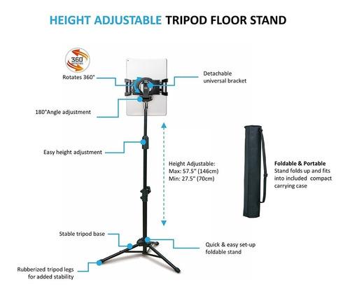 tripode soporte atril tablet universal ipad base aidata