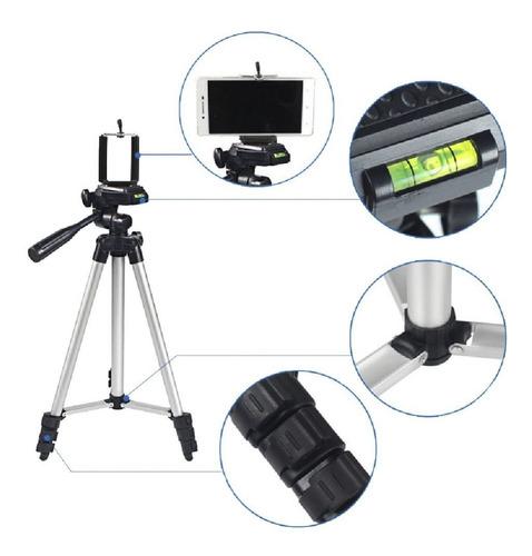 trípode-soporte de piso para cámara y celular