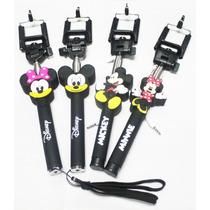 Monopod Selfie Animado Cable Auxiliar Para Iphone