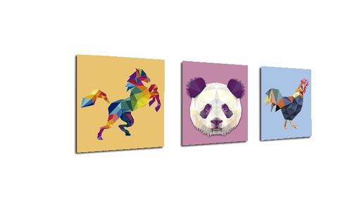 triptico 60x25 cms decorativo poliart animales13 panda cabal