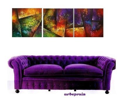 triptico abstracto sensacional!!!