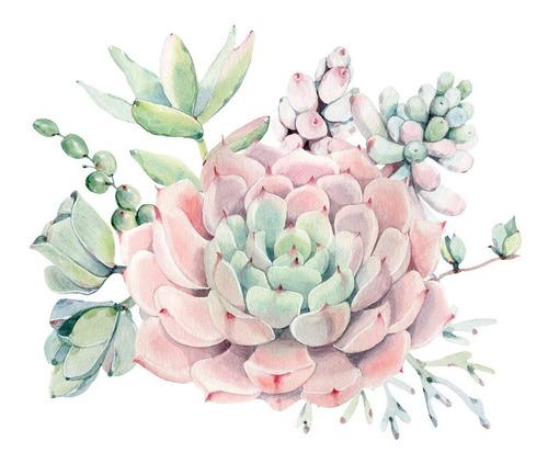 triptico flores rosa palo tipo acuarela cuadros decorativos