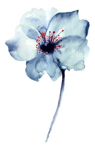 triptico flores tipo acuarela, cuadro decorativo canvas