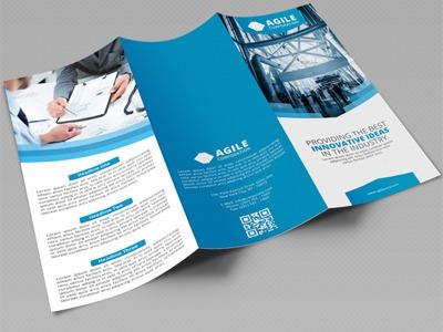 triptico o diptico - folleto - solo diseño