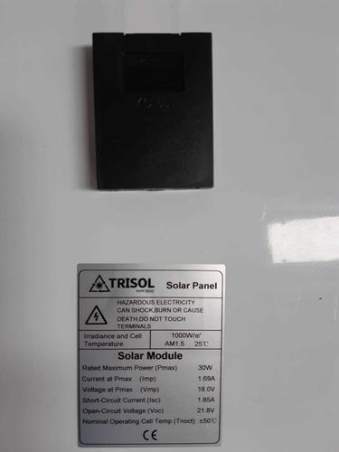 trisol panel solar fotovoltaico 30w monocristalino