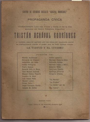 tristán achával rodríguez. la virtud y el civismo 1921