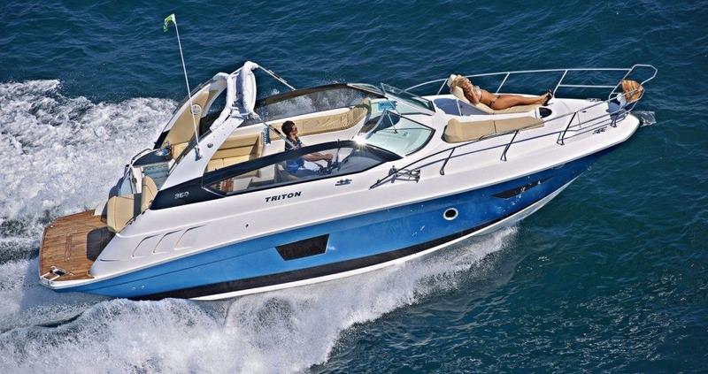 triton 360 2x 4.5 250hp bayliner 365 350 phantom cimitarra