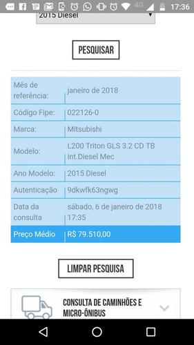 triton l200 diesel 4x4 completa só 70 mil ano 2015