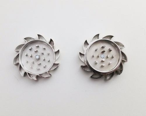 triturador de alho, temperos em alumínio - prata