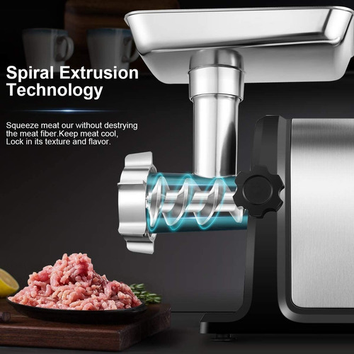 triturador de carne eléctrico aobosi 2000 w