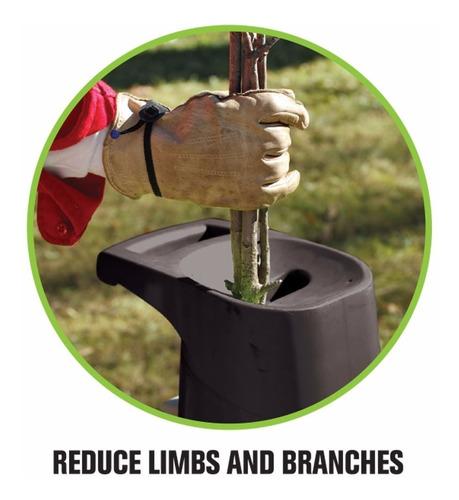 triturador de ramas y hojas electrico para composta 1-1/2