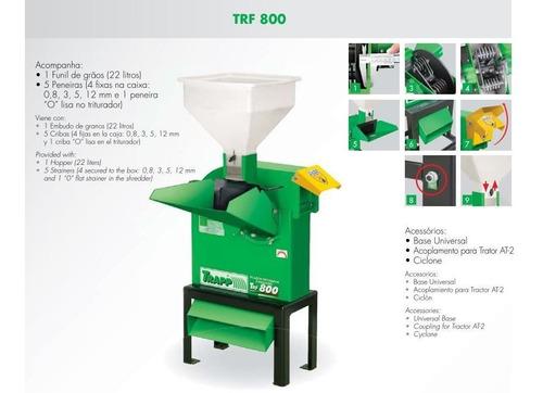 triturador forrageiro com acoplamento p/trator trapp trf 800