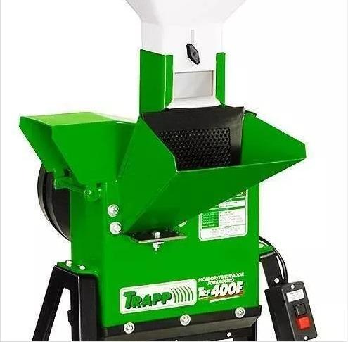 triturador forrageiro trapp trf400f 110v/220v motor 2cv