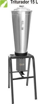triturador liquidificador industrial 15 litros aço inox - nf