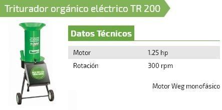 triturador residuos organicos 1,25hp trapp tr200- herracor