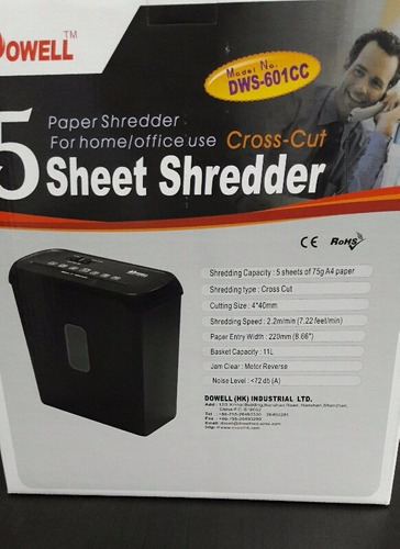 trituradora de papel destructora económica fácil uso