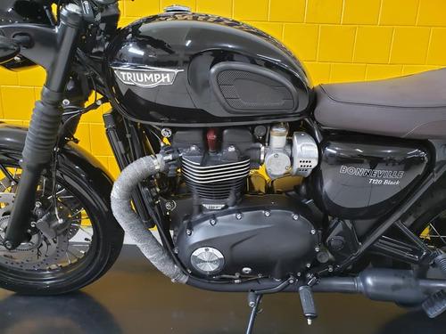 triumph boneville  t120 b - preta  - 2017  - 197740-1073 déb