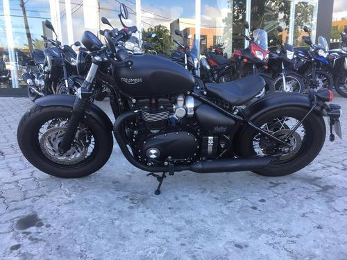 triumph bonneville bobber black 1200cc. 2019/2019