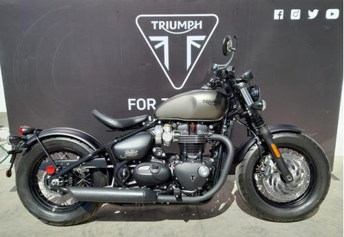 triumph - bonneville bobber black (matt ironstone) mod. 2020