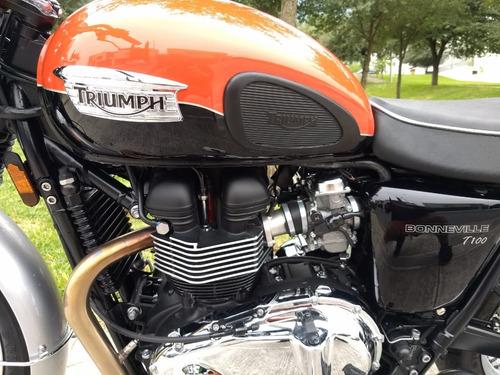 triumph bonneville t100 2015(thruxton caferacer nueva 325km)
