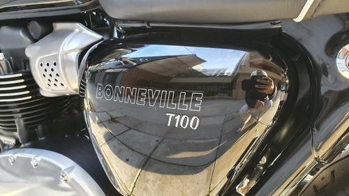 triumph bonneville t100. año 2019. solo 700 km. igual a 0km.