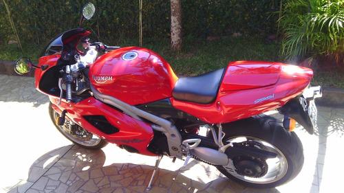 triumph daytona 955i 2006 vermelha!!!!impecavel!!!!troco!!!!
