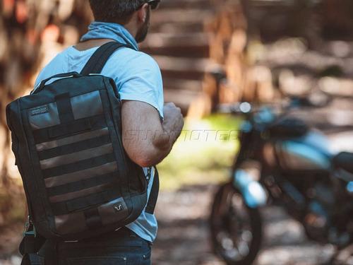 triumph maleta legend back pack c cinchos para montar moto