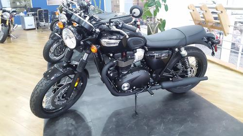 triumph new bonneville t100 black 900cc 2018 0km negro