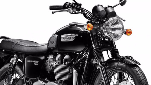 triumph new bonneville t100 black