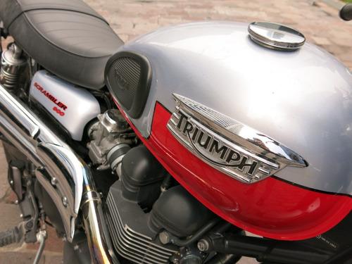 triumph scrambler 900 2014 original con cubiertas nuevas!