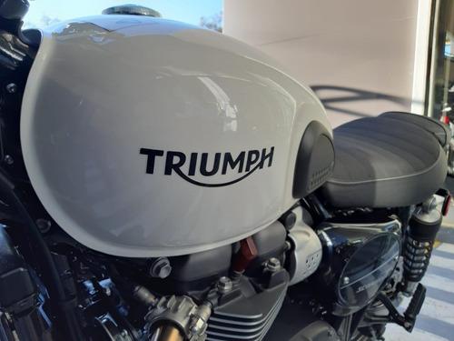 triumph - street scrambler (fusion white) 900cc mod. 2020