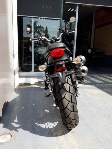 triumph - street scrambler (matt khaki+matt aluminium) 900cc
