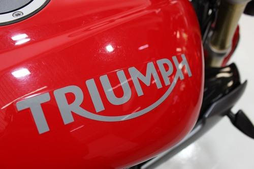 triumph street triple 675 abs 2015 vermelha