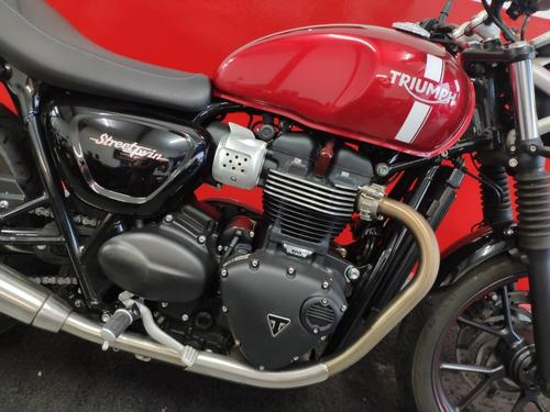 triumph street twin 900 abs 2017 vermelha vermelho